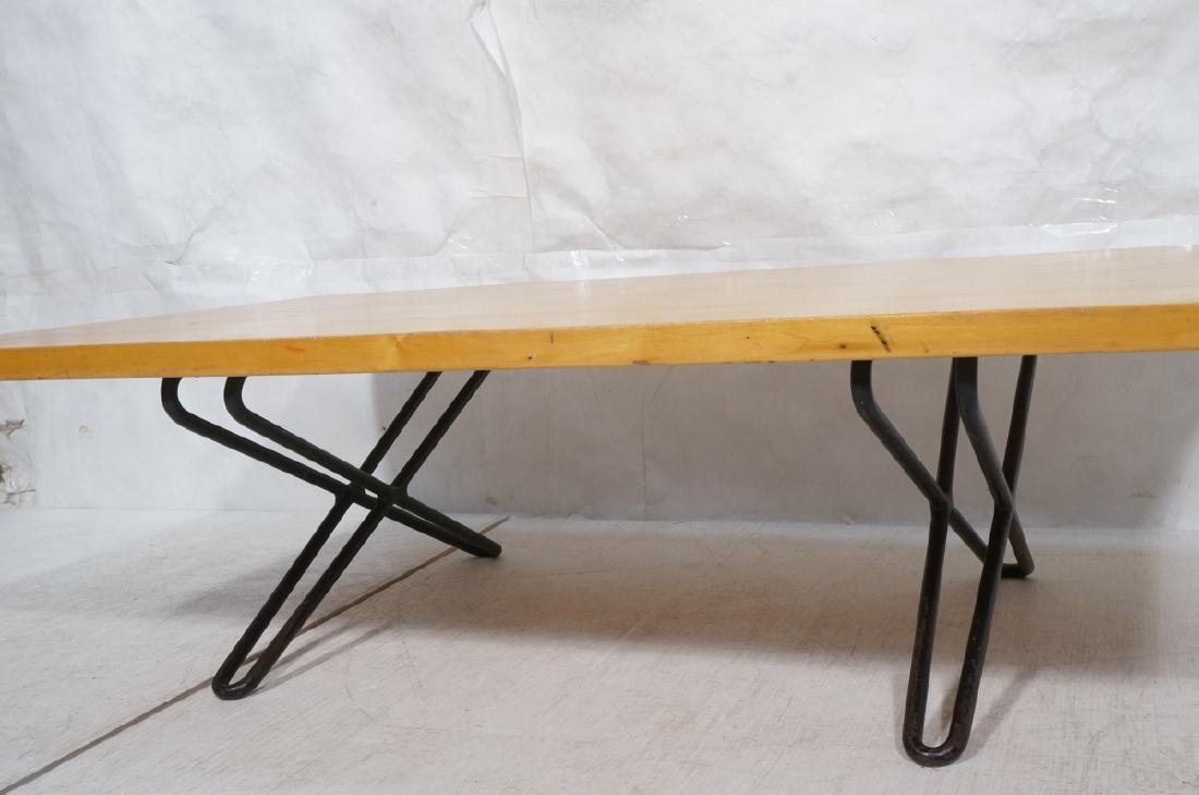 Modern Blond Wood Low Coffee Cocktail Table. Heav - 5
