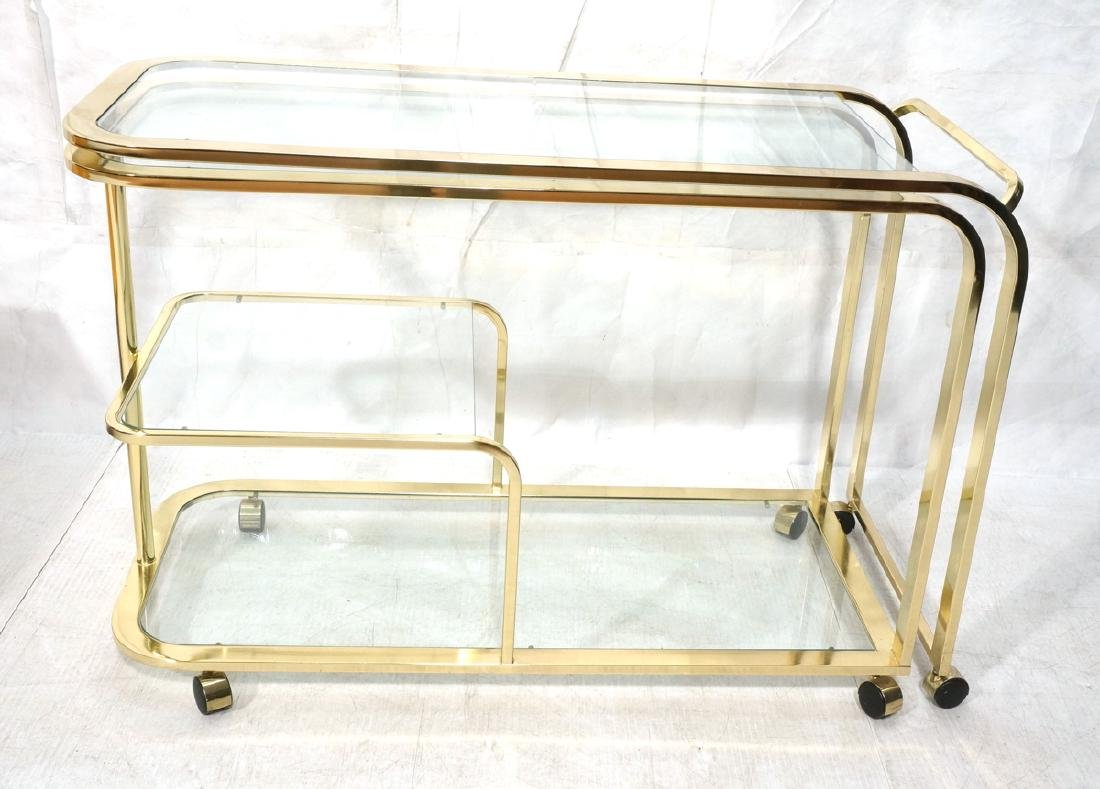 MILO BAUGHMAN for DIA Expandable Bar Cart. Brass
