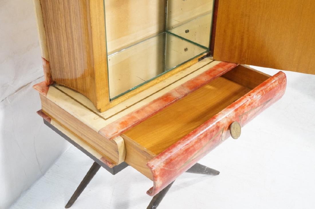 ALDO TURO Lacquered Goatskin Faux Book Bar Cabine - 4