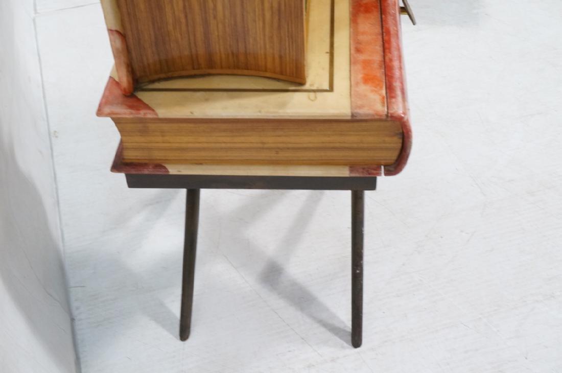 ALDO TURO Lacquered Goatskin Faux Book Bar Cabine - 5