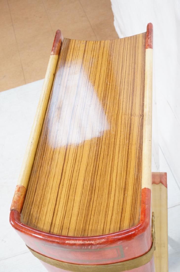 ALDO TURO Lacquered Goatskin Faux Book Bar Cabine - 7
