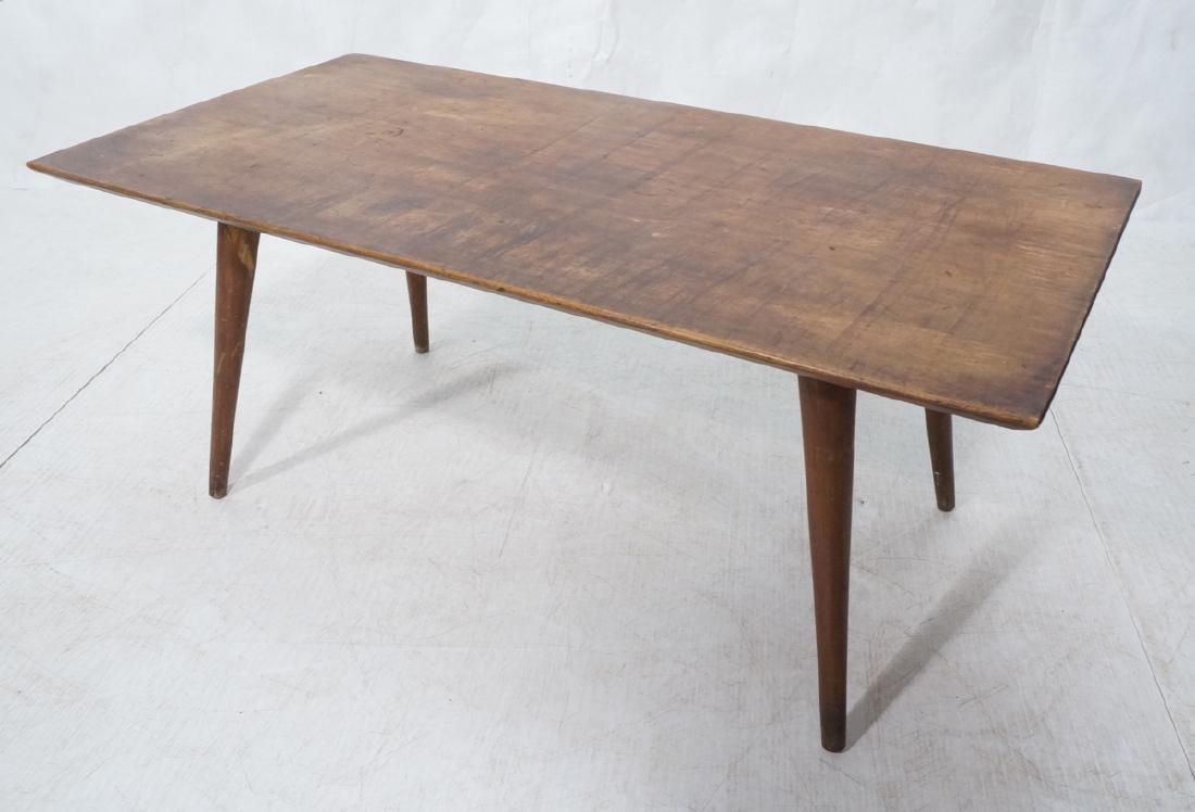 Paul McCobb Modernist Wood Coffee Table. Tapered