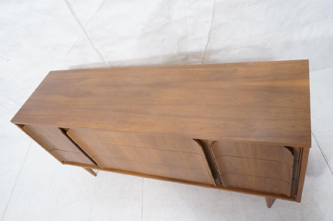 American Modern Walnut Credenza. 9 drawers with s - 2