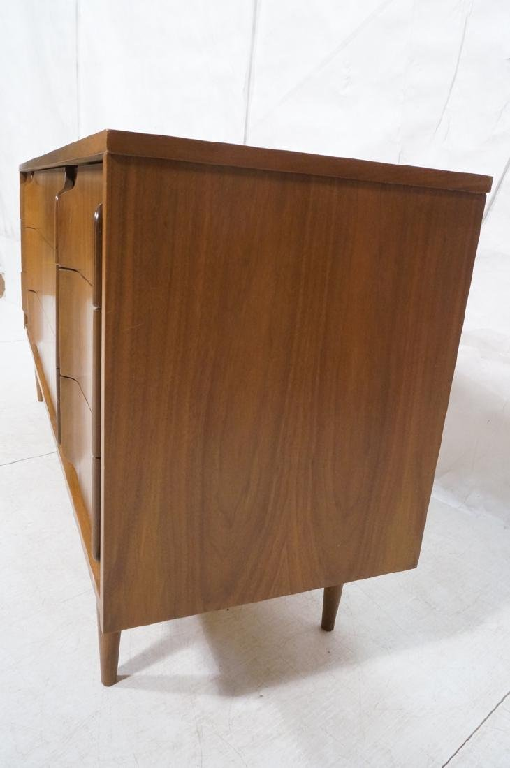 American Modern Walnut Credenza. 9 drawers with s - 3