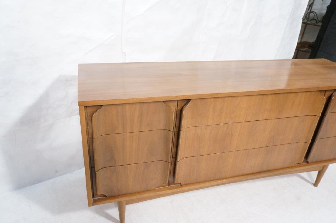 American Modern Walnut Credenza. 9 drawers with s - 5