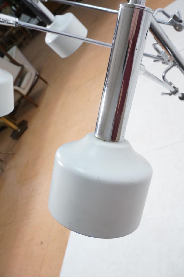 Triennale Style Modern Chrome Floor Lamp. White e - 10