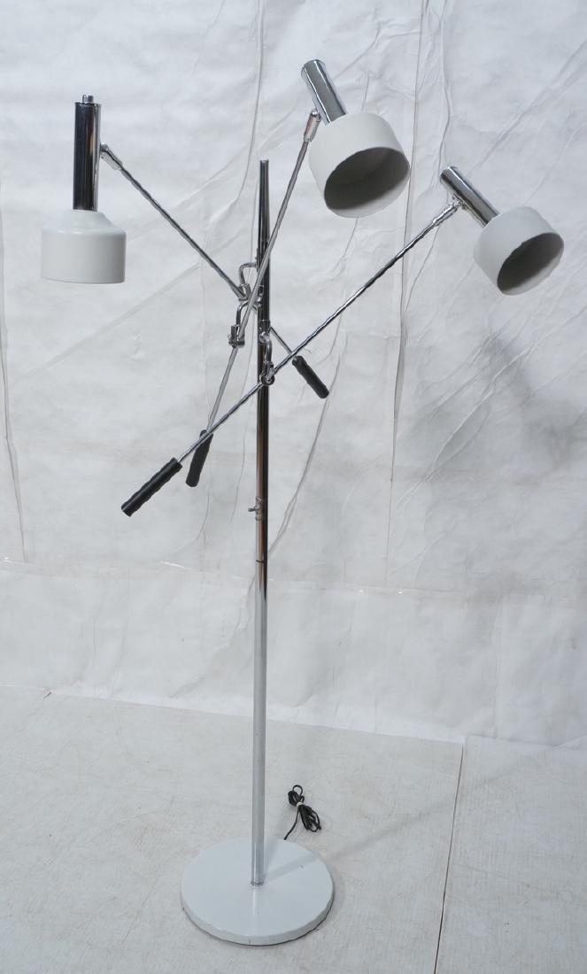 Triennale Style Modern Chrome Floor Lamp. White e