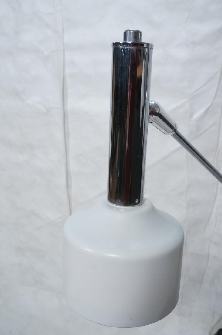 Triennale Style Modern Chrome Floor Lamp. White e - 2