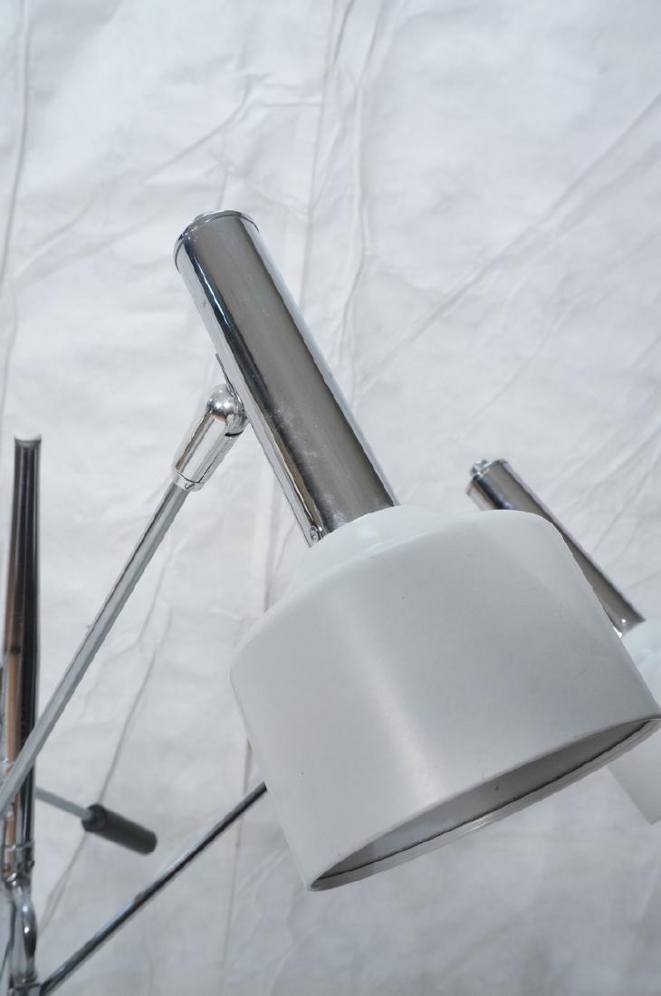 Triennale Style Modern Chrome Floor Lamp. White e - 3