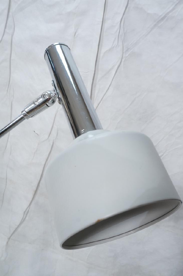 Triennale Style Modern Chrome Floor Lamp. White e - 4