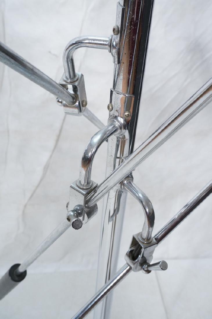 Triennale Style Modern Chrome Floor Lamp. White e - 5