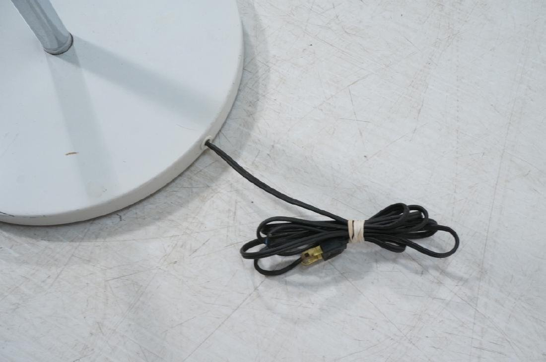 Triennale Style Modern Chrome Floor Lamp. White e - 8