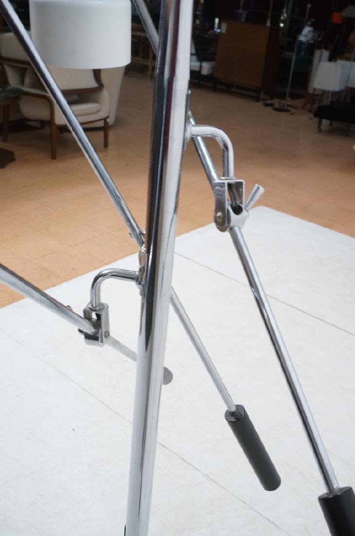 Triennale Style Modern Chrome Floor Lamp. White e - 9