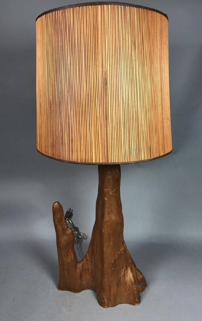 Mid Century Tall Cypress Root Table Lamp. 2 tall