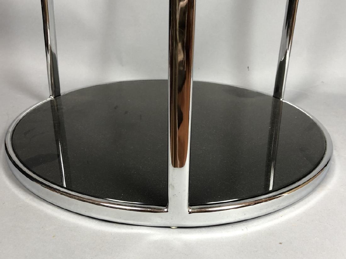 Chrome Modern Drum Form Side Table. Chrome frame - 4