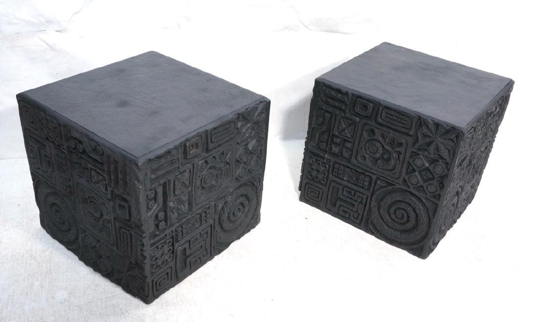 Pr ADRIAN PEARSALL Molded Cube Tables. Decorative