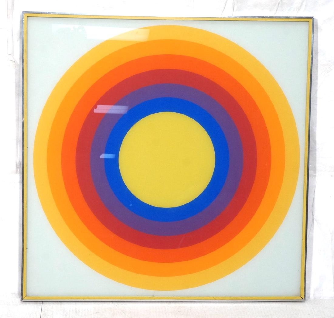 70s Modern Rainbow Silkscreen Wall Art Printed on