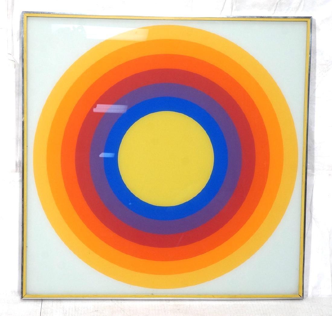 70s Modern Rainbow Silkscreen Wall Art Printed on