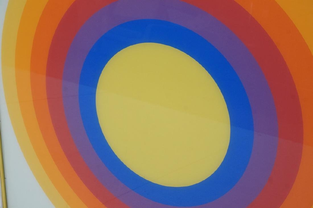 70s Modern Rainbow Silkscreen Wall Art Printed on - 4