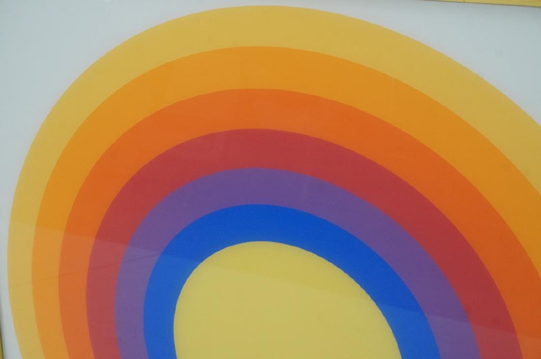 70s Modern Rainbow Silkscreen Wall Art Printed on - 5