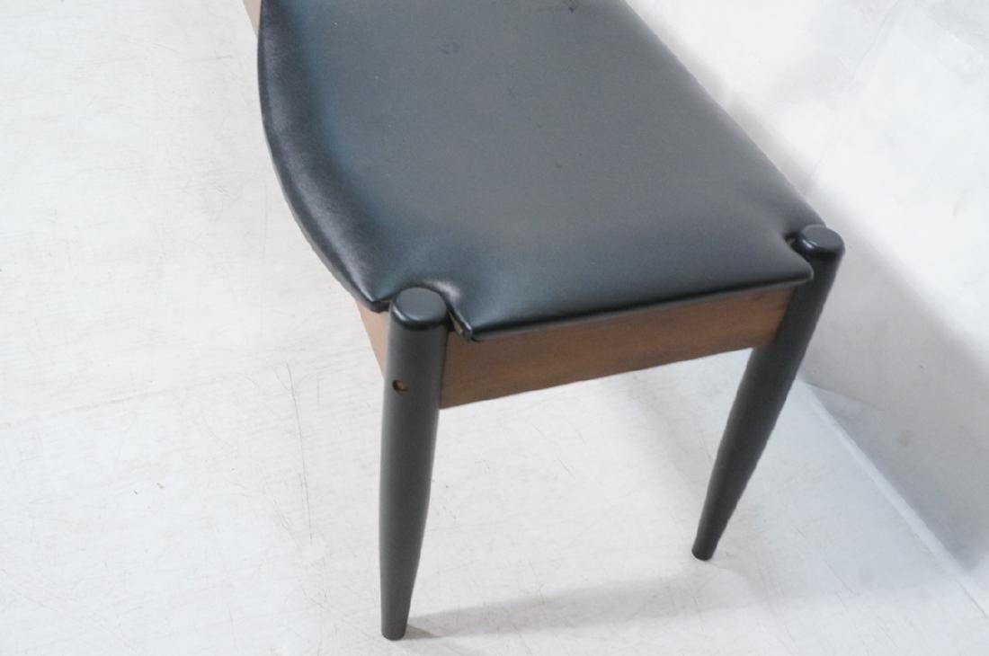 NORCO Walnut 3 Seater Modern Bench. Tapered eboni - 3