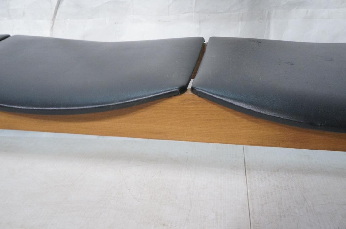 NORCO Walnut 3 Seater Modern Bench. Tapered eboni - 4