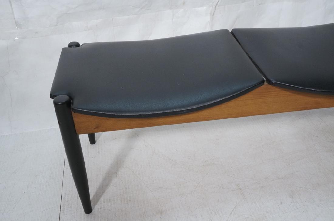 NORCO Walnut 3 Seater Modern Bench. Tapered eboni - 5