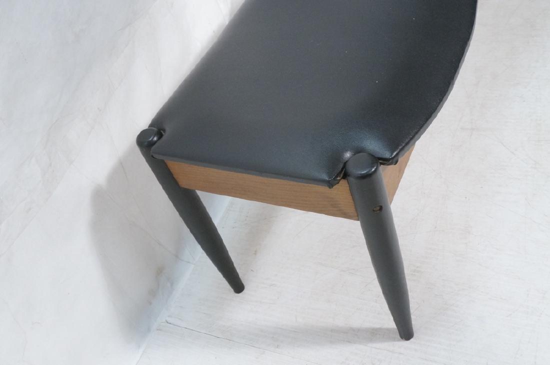 NORCO Walnut 3 Seater Modern Bench. Tapered eboni - 6