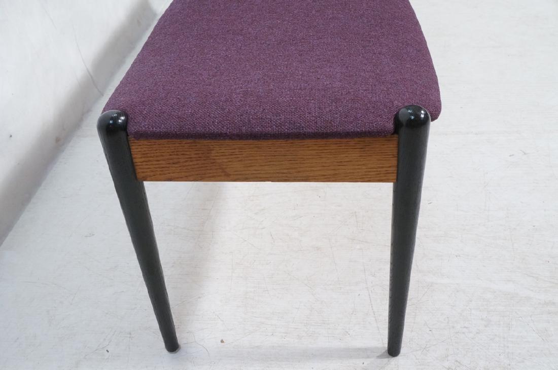 American Modern Purple 3 seater Bench. Oak skirt, - 2