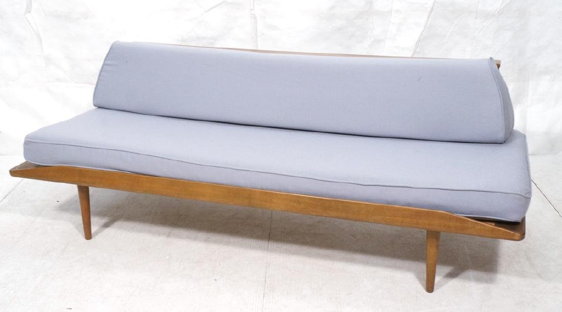 HANS WEGNER Style Sofa Daybed. Armless couch with