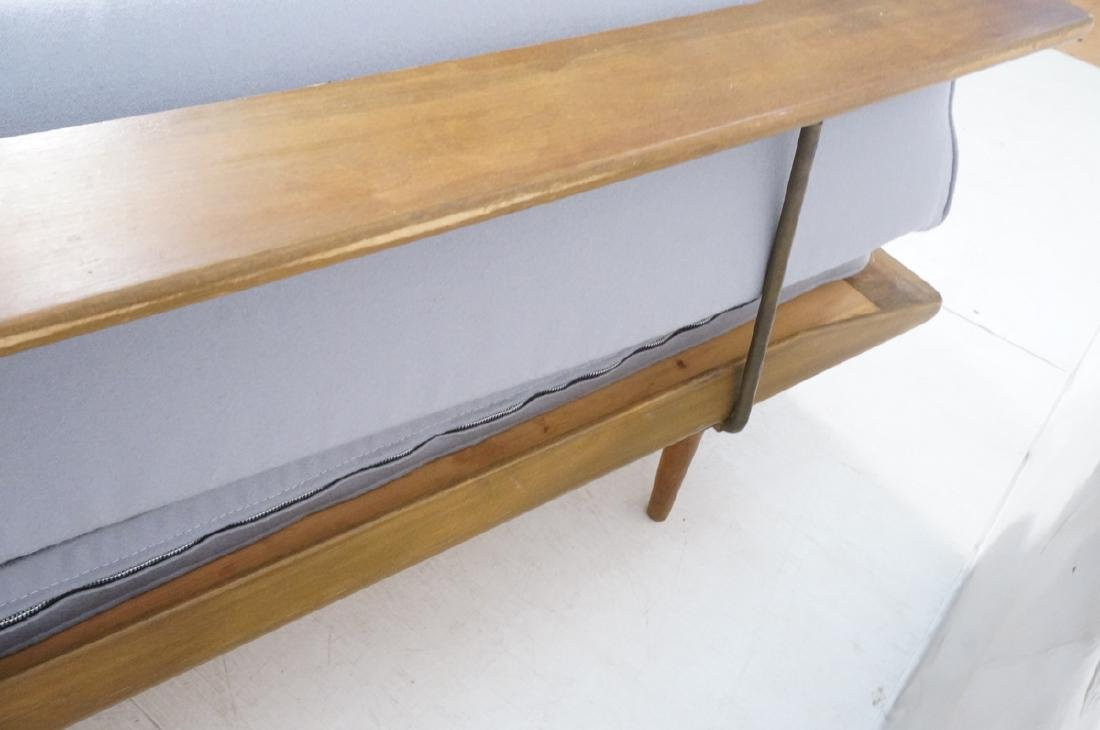 HANS WEGNER Style Sofa Daybed. Armless couch with - 7
