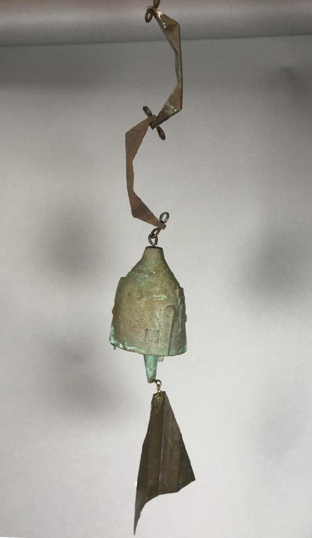 PAOLO SOLERI for ARCO SANTI Bronze Wind Chime. Ov
