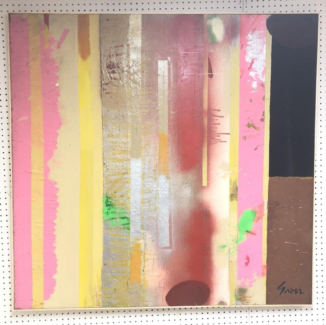 Large SIDNEY GROSS Modernist Abstract Oil Paintin