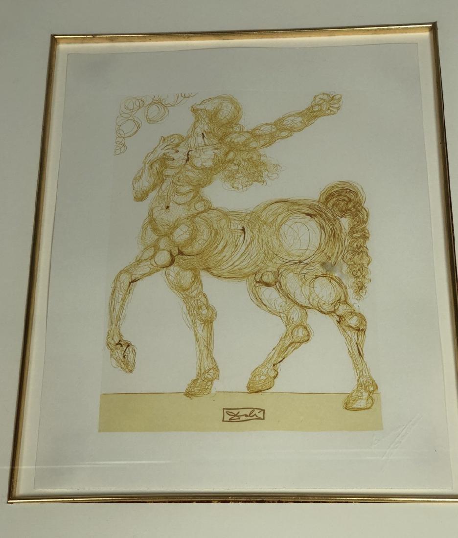 SALVADOR DALI 'Centaur' Print. Signed in the bloc