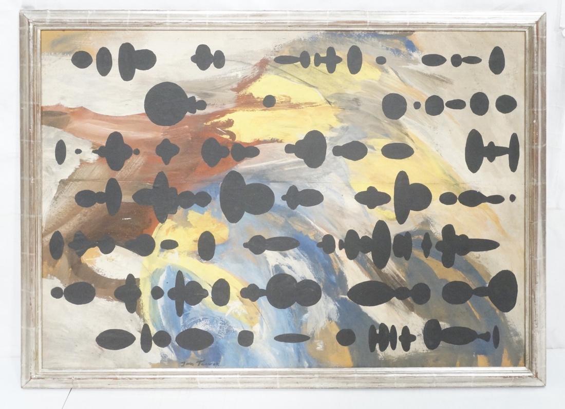 JAN TARASIN Abstract Oil Painting. Muted palette