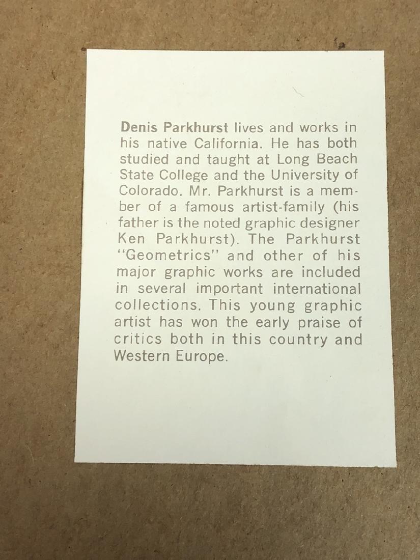 DENIS PARKHURST Graphic Silkscreen Modern Print. - 6