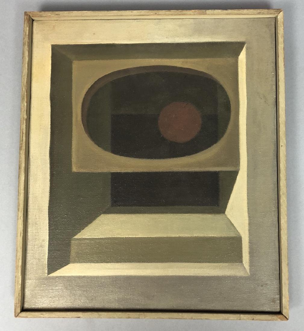 Modernist Abstract Oil Painting Perspective of St