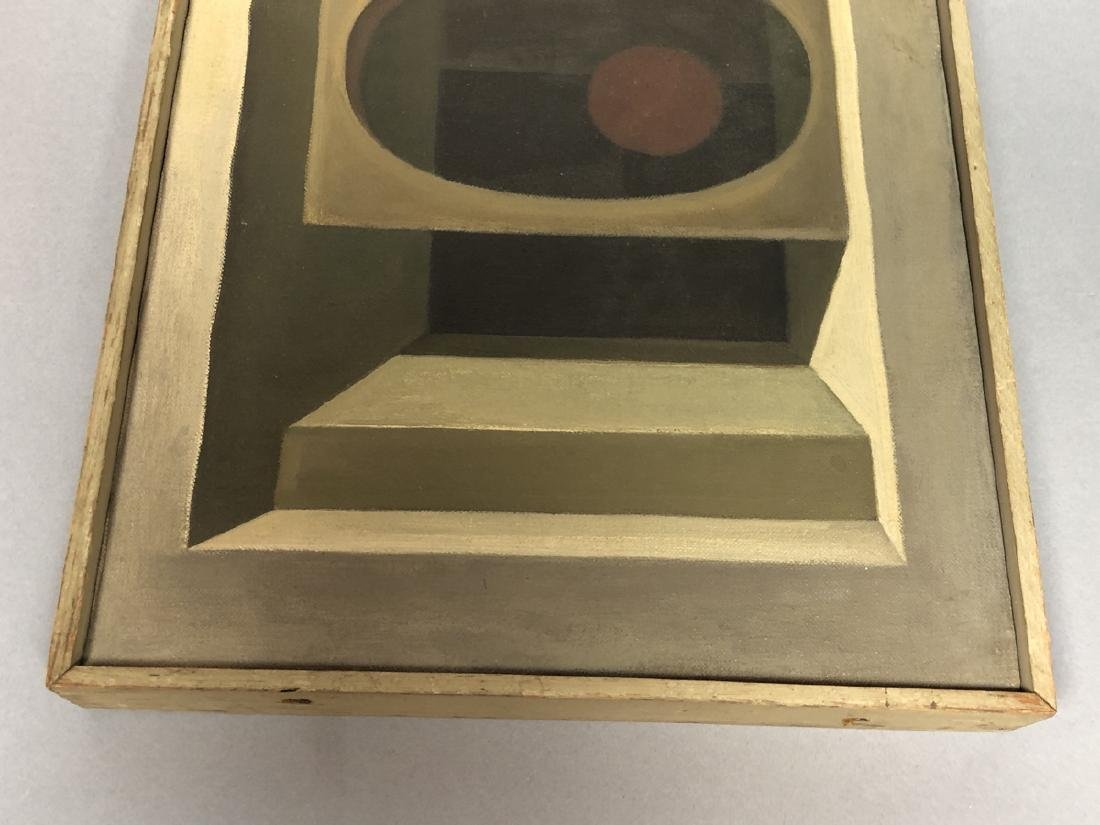 Modernist Abstract Oil Painting Perspective of St - 3