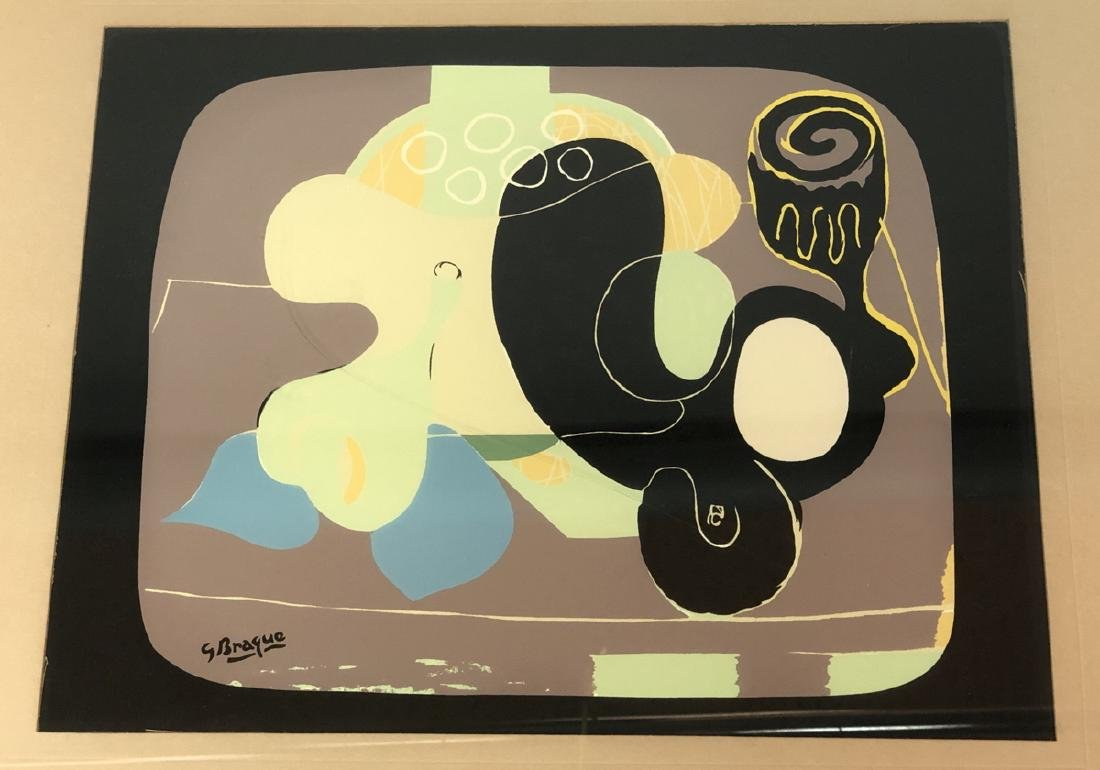 GEORGE BRAQUE Lithographic Print. Modernist still