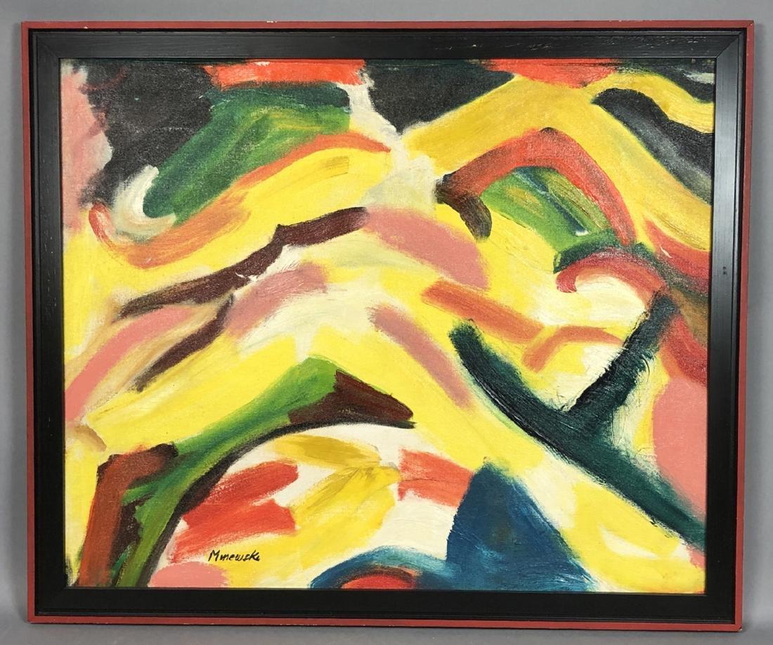 Alex Minewski,1917-1979 Oil Painting. Abstract oi