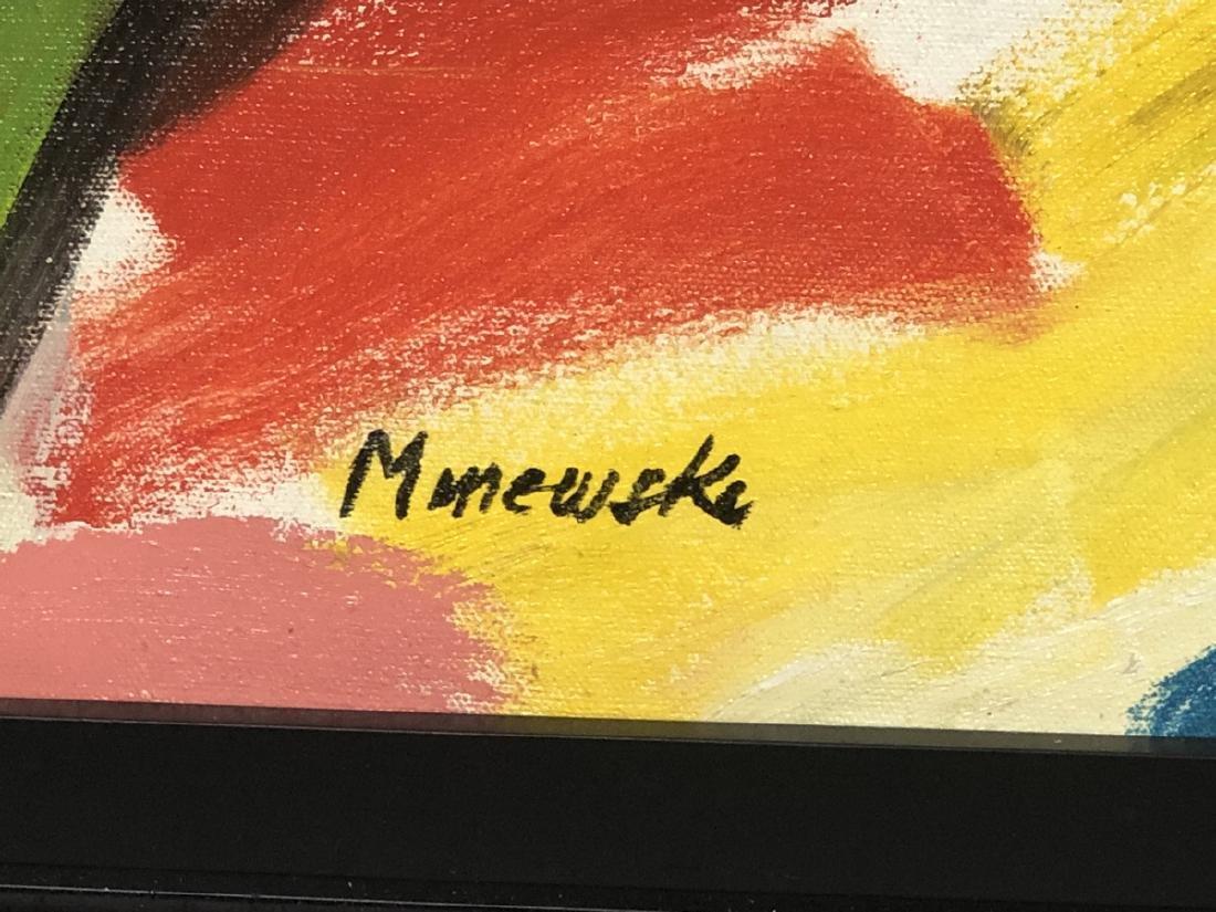 Alex Minewski,1917-1979 Oil Painting. Abstract oi - 2