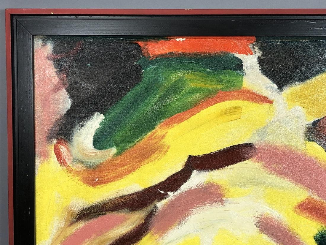 Alex Minewski,1917-1979 Oil Painting. Abstract oi - 3
