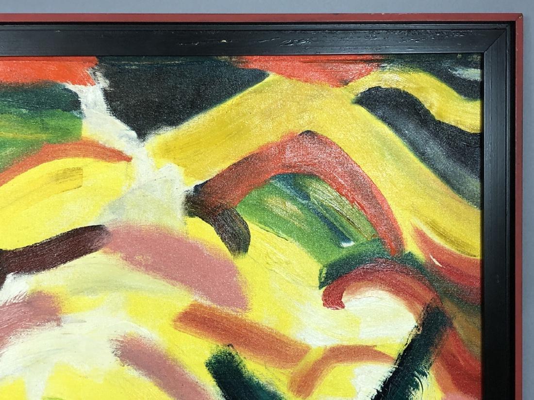 Alex Minewski,1917-1979 Oil Painting. Abstract oi - 4