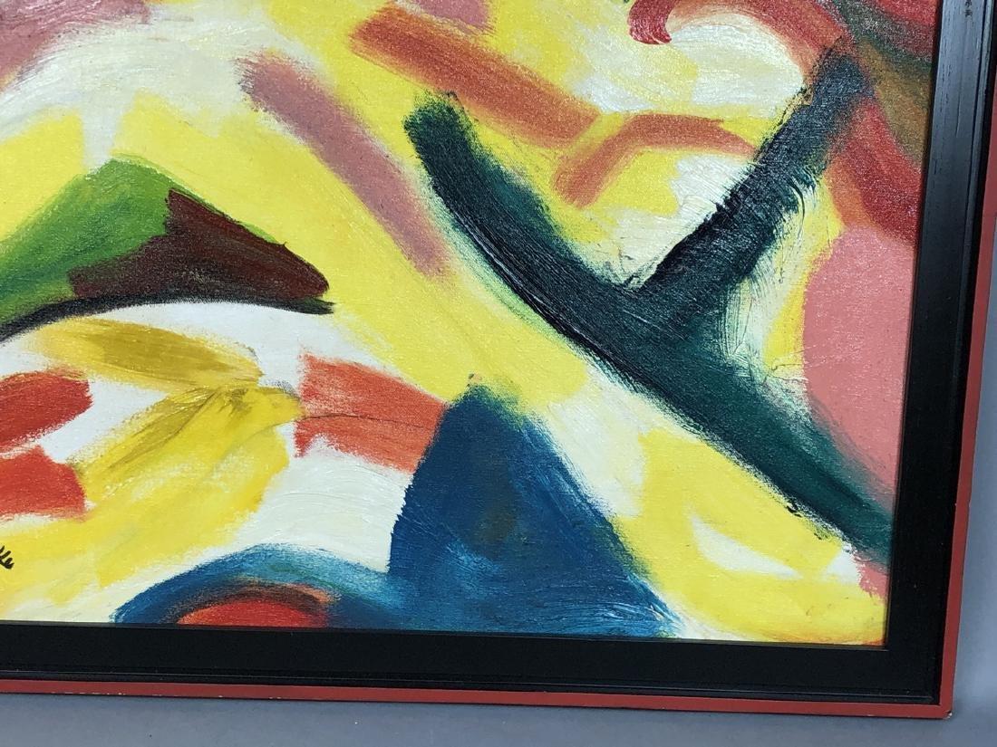 Alex Minewski,1917-1979 Oil Painting. Abstract oi - 5