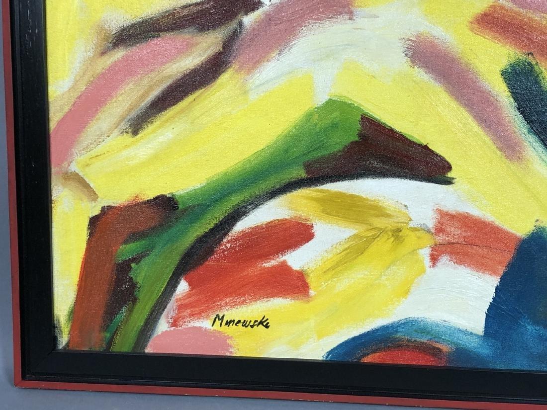 Alex Minewski,1917-1979 Oil Painting. Abstract oi - 6