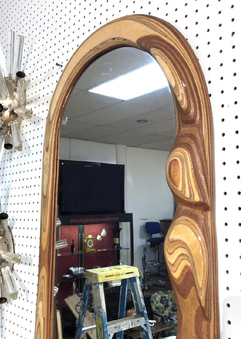 R. HARGRAVE Oval Laminated Wood Wall Mirror. Figu - 3