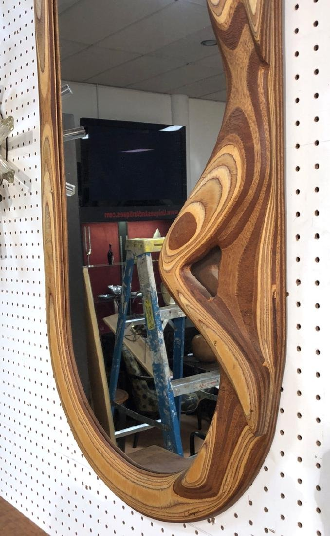 R. HARGRAVE Oval Laminated Wood Wall Mirror. Figu - 4