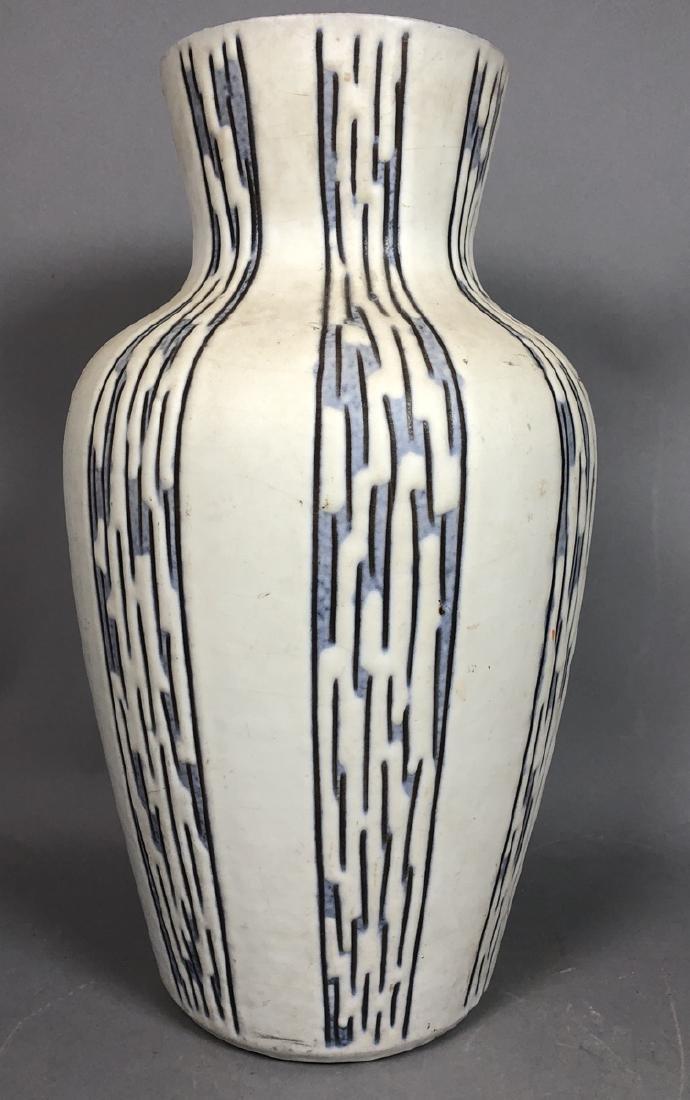 Large Art Pottery Modern West German Vase. Cream