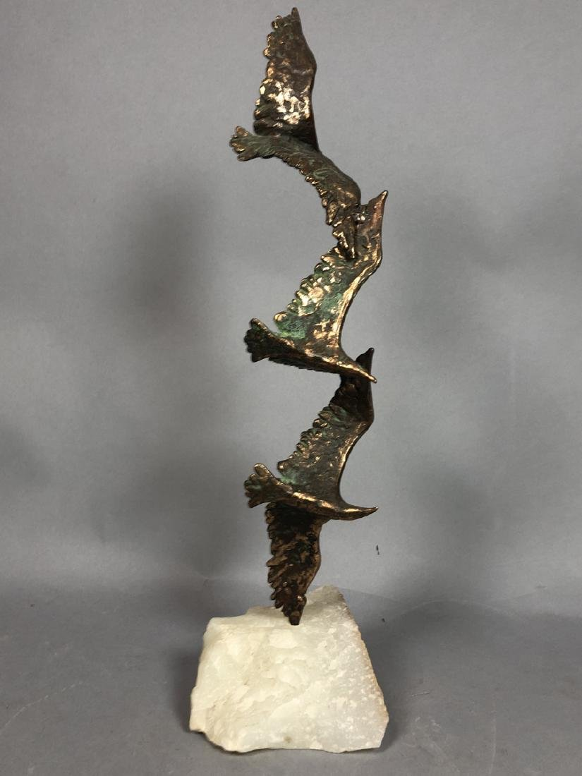 2 Modernist Metal Bird Table Sculptures. C. JERE - 10