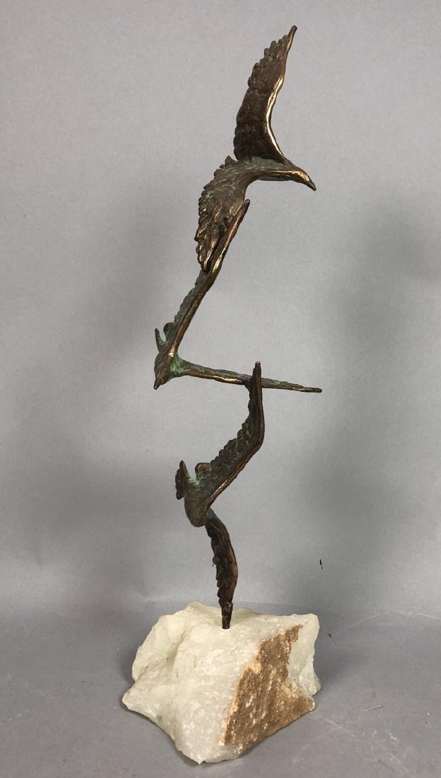 2 Modernist Metal Bird Table Sculptures. C. JERE - 3